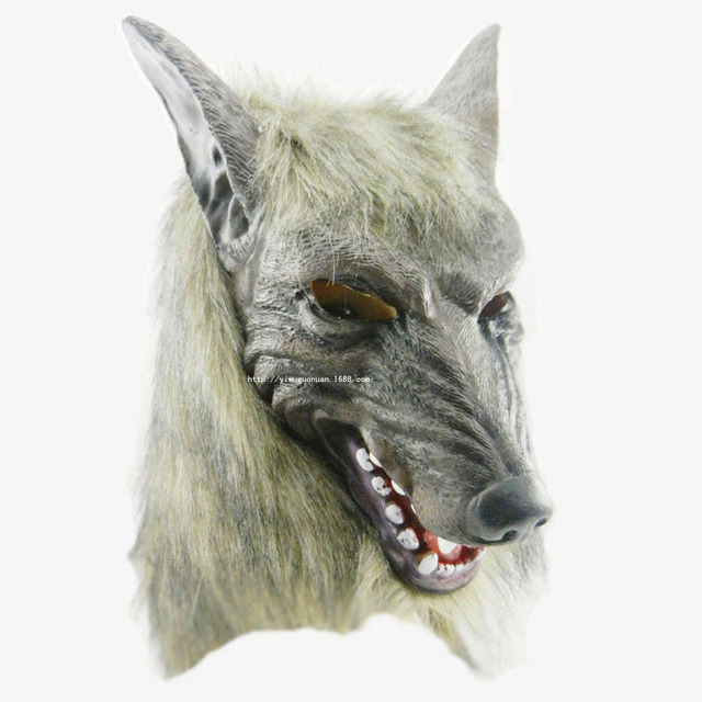 cool wolf party mask halloween face fool wolf party mask head latex creepy scary april fools - Cool Masks For Halloween