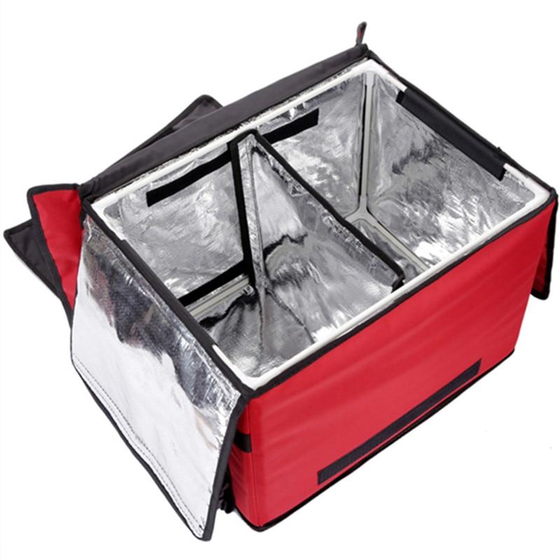 Grand sac à coffre de voiture de 62 L, sac de coffre de voiture, isolation des familles de réfrigérateur, sac à lunch étanche valiz, sac à lunch chaud, boîte de rangement - 5