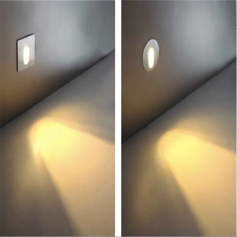 Led Sconce Lamps 85 265v 3w 1w Recessed Stair Light Wall Lights In Step Aisle Embedded Concrete Walls Lighting