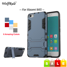 Фотография WolfRule sFor Cover Xiaomi Mi5 Case Shockproof Silicone & Plastic Stand Phone Cases For Xiaomi Mi5 Cover Fundas Mi 5 < [
