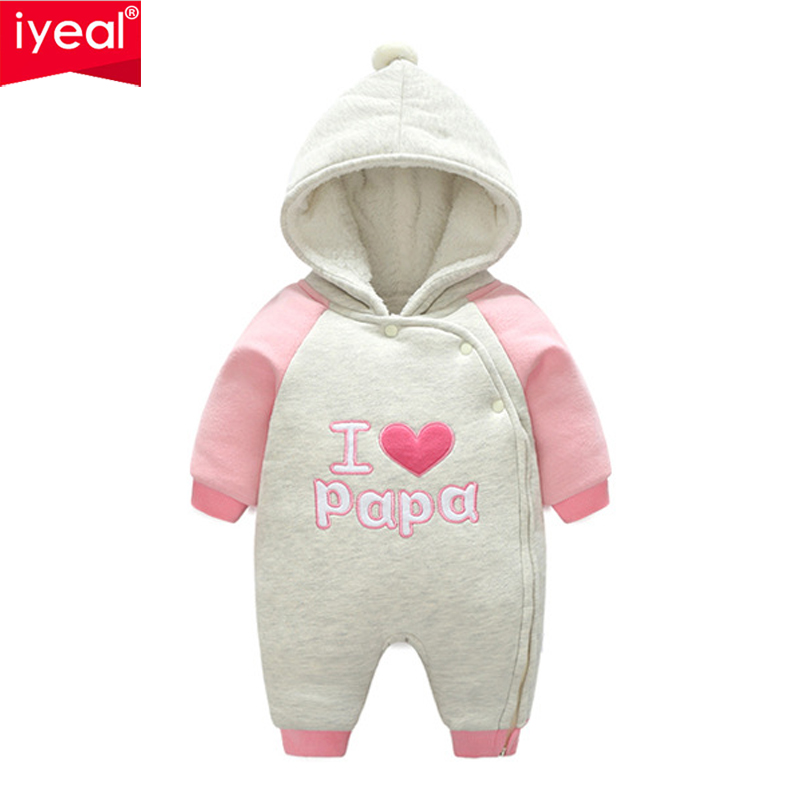 6b9ee9fcd IYEAL Newborn Baby Rompers Winter Fashion Hooded Thicken Boys ...