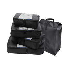 QIUYIN 4 pcs Luggage Packing Organizers Packing Cubes Set for Travel(Grey)(Red)(Green)(Violet)(Black) Overnight Bag Duffle Bags