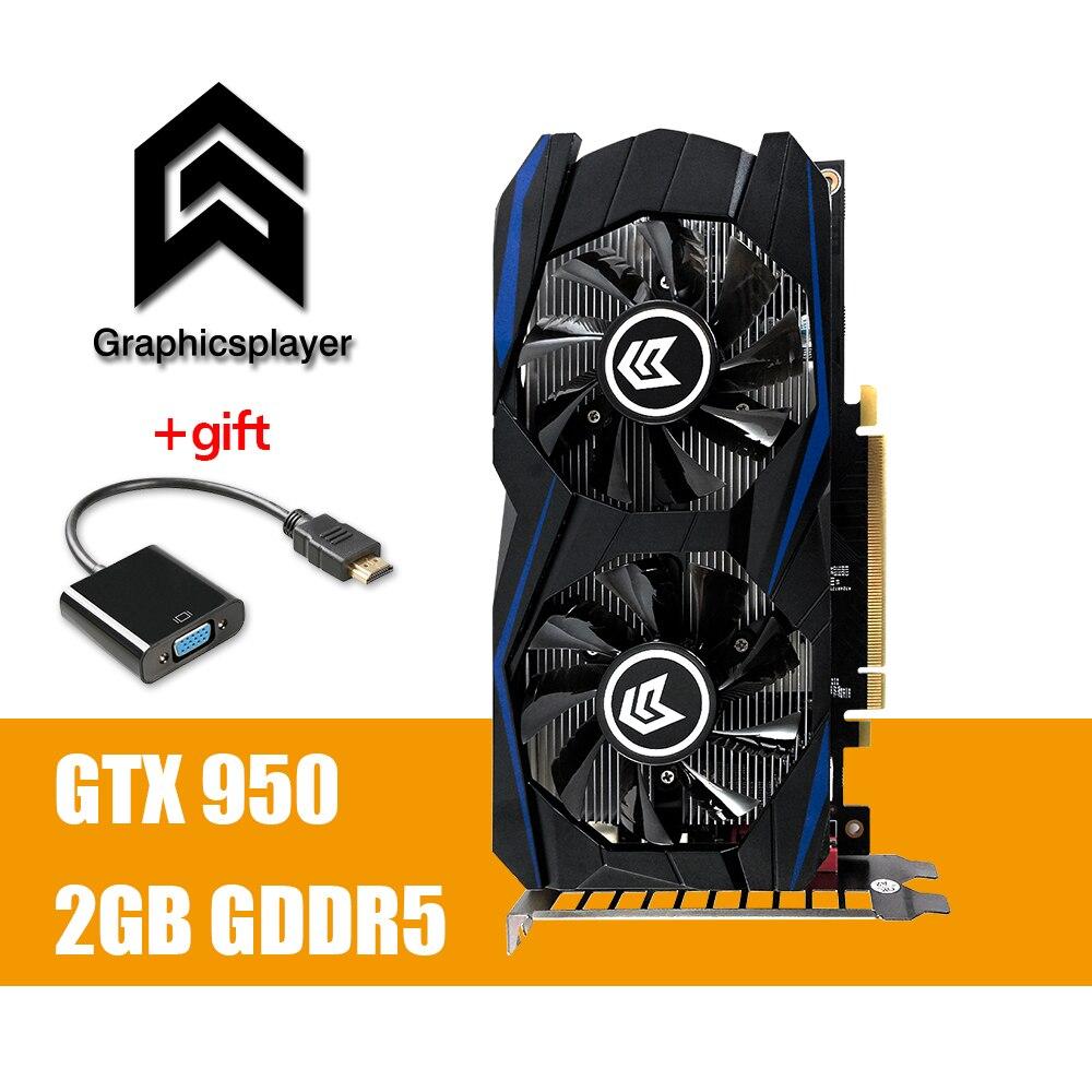 Графика карта PCI-E GTX 950 2 ГБ DDR5 128Bit пласа-де-video carte graphique видеокарта Nvidia для