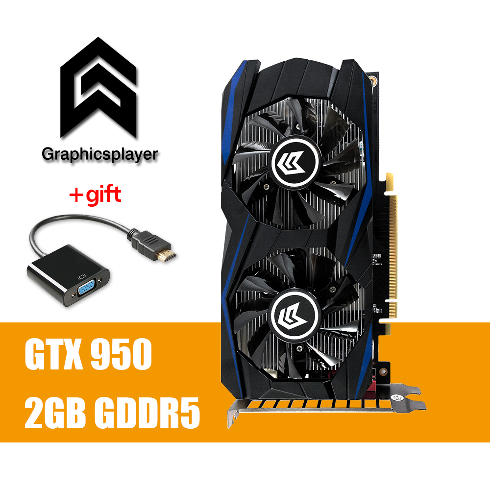 Grafikkarte PCI-E GTX 950 2 gb DDR5 128Bit Placa de Video carte graphique Video Karte für Nvidia