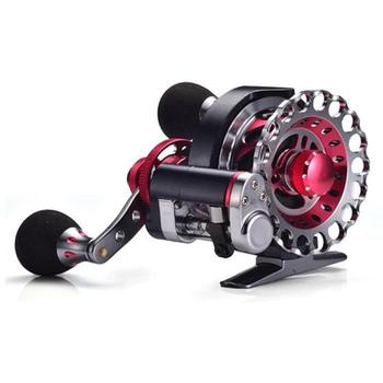LumiParty Fly Reel Automatic Wire Spread 10+1 BB Aluminum Alloy Left/Right Hand Ice Fishing Raft Reel