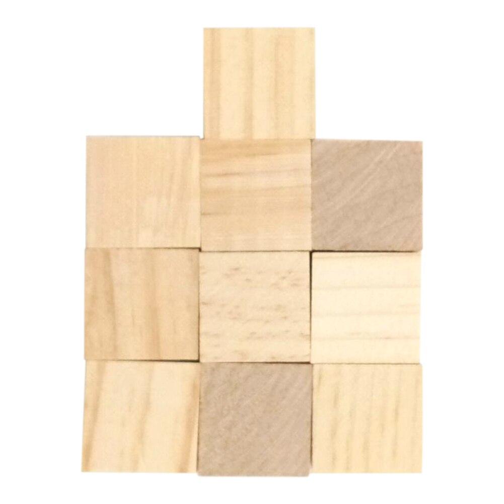 Decoration Wooden Cubes DIY Gift Square Blocks Embellishment Mini Toy Children Crafts