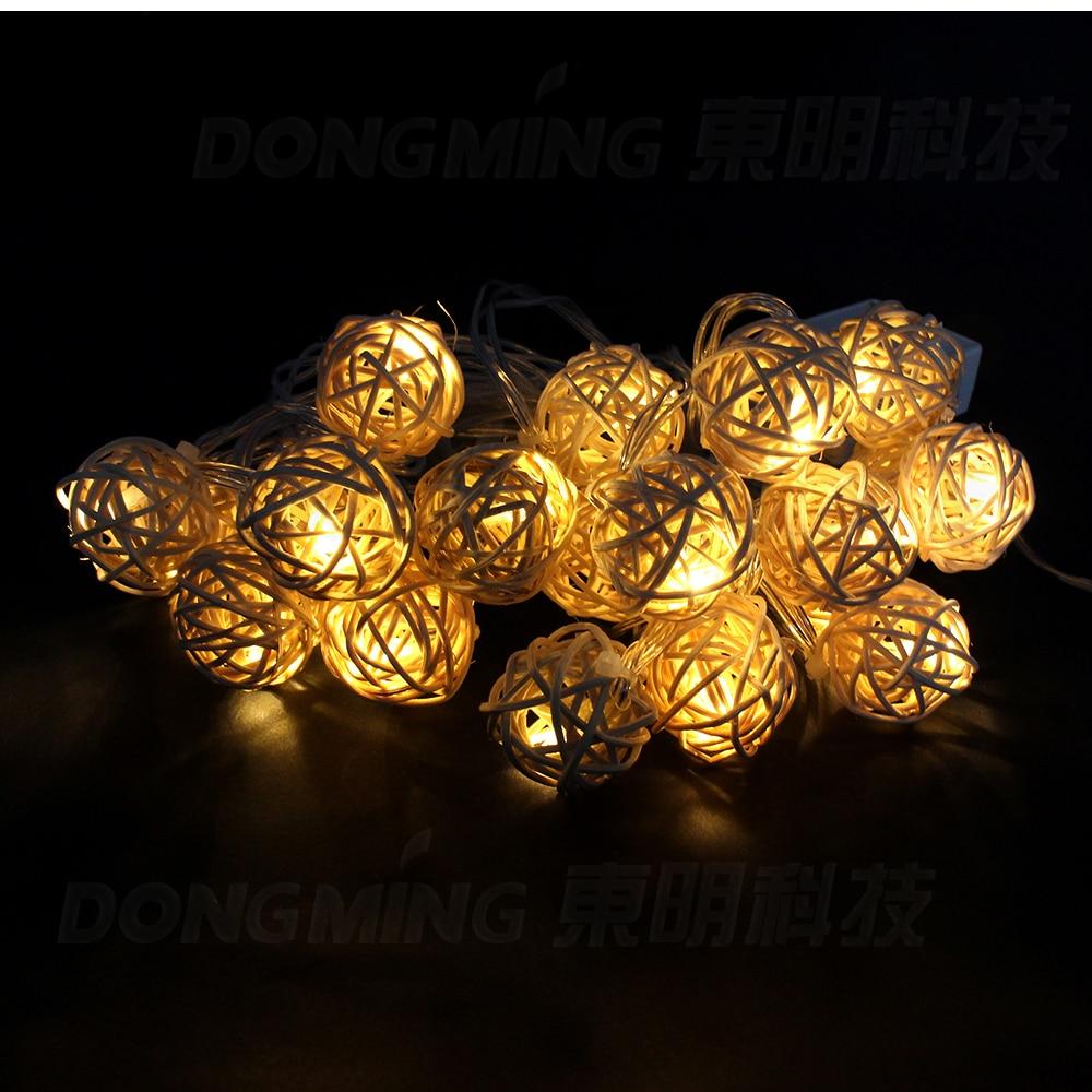 Najprodavaniji LED božićno drvce svjetla 5m 20leds LED lopta string - Rasvjeta za odmor - Foto 6