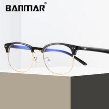 BANMAR Reading Glasses Women Men Blue Light Blocking Half Frame Computer Anti Rays Optical Eyewear A1821