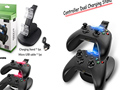 Distinct Color LED Dual USB Fast Charging Adapter Stand Dock Station Charger for Xbox One XBOXONE Game Gaming Controller Charger
