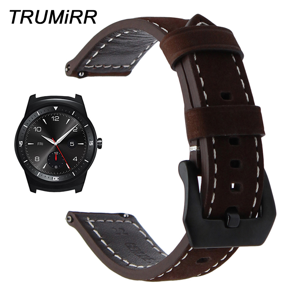 22mm Quick Release Watchband for LG G Watch Urbane AsusZenWatch 1 2 Men WI500Q WI501Q Amazfit Italian Genuine Leather Band Strap цена