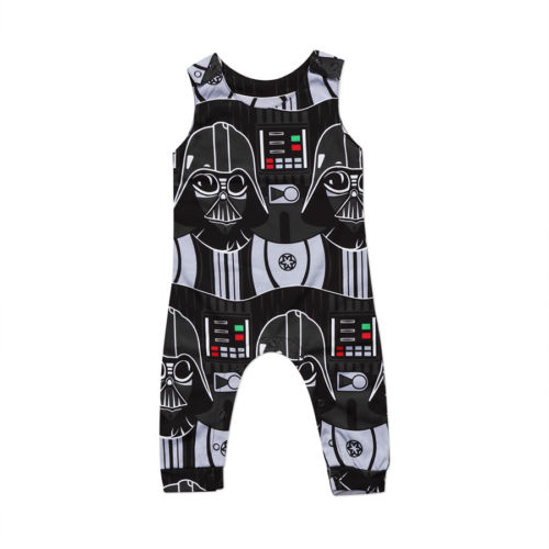 Newborn Infant Kids Baby Boys Star Wars Romper Jumpsuit Clothes Outfits Toddler Boy Girls Print Sleeveless Rompers Clothing Soft newborn baby girls rompers 100% cotton long sleeve angel wings leisure body suit clothing toddler jumpsuit infant boys clothes