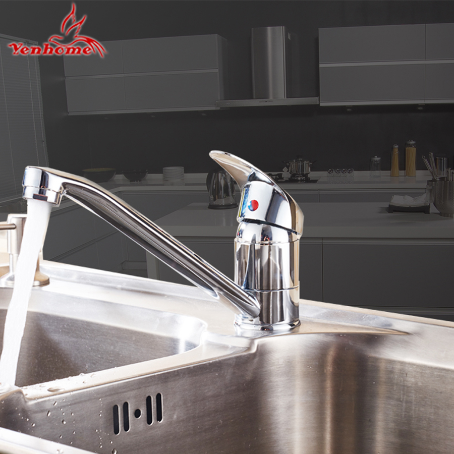 Yenhome Luxury Kitchen Faucet Drip Free Deck Mounted 360 Rotate ...