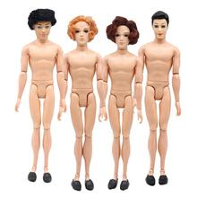 14 Moveable Jointed 30cm Ken dolls boyfriend man Prince naked man Ken doll body head toys for girls gifts the naked man