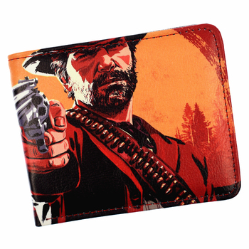 Hot Game Red Dead Redemption 2 Wallet Men and Student's Short Purse With Card Holder Zipper Poucht 1