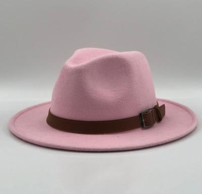 Dropwow New Wool Fedora Hat Hawkins Felt Cap Wide Brim Ladies Trilby ... 32fd77640d3d