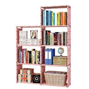 Image 2 - ชั้นวางหนังสือโมเดิร์นยืนชั้นวาง DIY มัลติฟังก์ชั่ชั้นวาง 4 ชั้น 5 ชั้น Combination Home เฟอร์นิเจอร์ Book Case