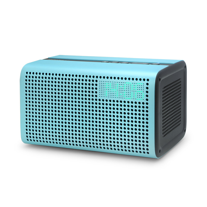 GGMM E3 WiFi Bluetooth Speaker Colonna Altoparlante Portatile Hi-Fi Music Player Altoparlante Senza Fili Altoparlanti Subwoofer con Orologio