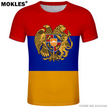 439578f3c2520 Армения футболка Бесплатная Индивидуальный заказ имя номер фото белый серый  красный черные футболки arm страна футболка