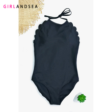 GIRLANDSEA New 2019 One-pieces Swimsuit Solid One Piece Women PLUS SIZE S-4XL Swimwear Sliming