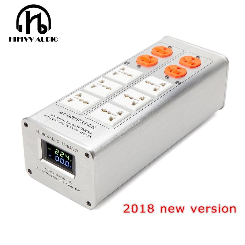 2018 new version hifi Power filter Power amplifier filter TP1000 power supply socket lightning protection voltage