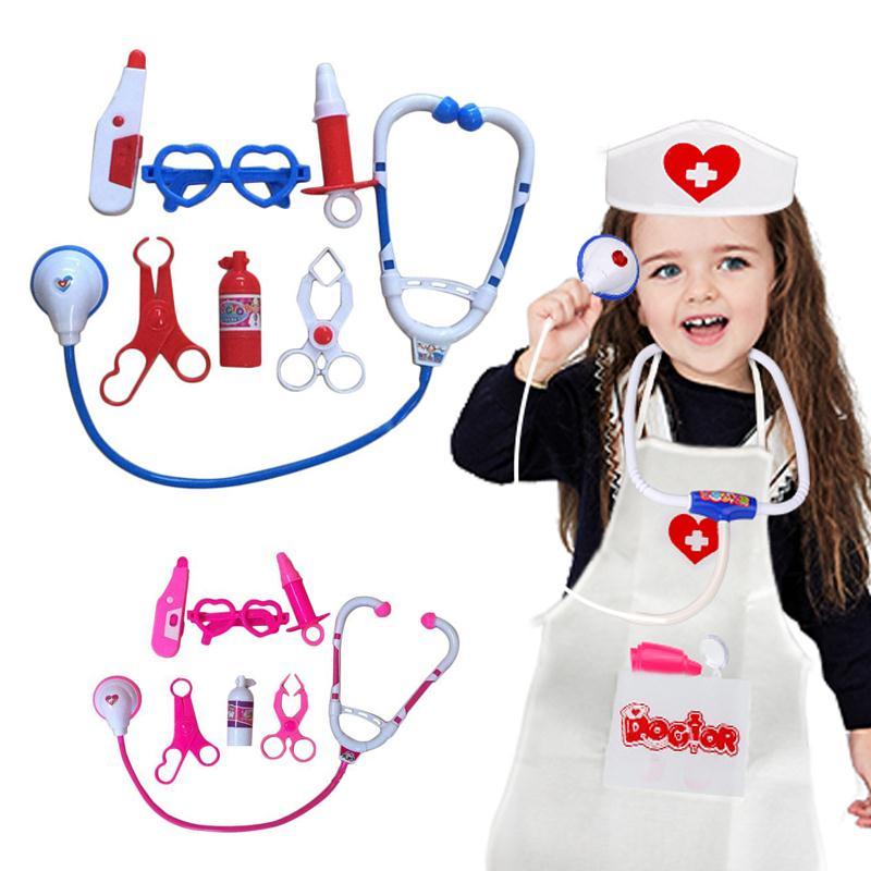 Children's Kit Doctor Set Kids Educational Pretend Doctor Role Play Medical Kit Doctor Roleplay Toys For Children Juguetes