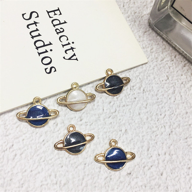 Wholesale 100pcs glitter enamel alloy pendant charms gold wholesale 100pcs glitter enamel alloy pendant charms gold colorplated oil drop saturn star floating metal charm aloadofball Images