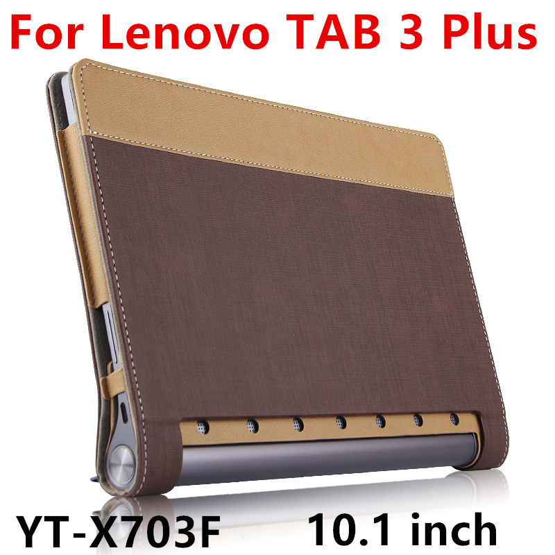 Case For Lenovo Yoga Tab 3 Plus Smart cover Leather Protective Tablet For YOGA TAB3 Plus YT-X703F 10.1 inch PU Protector Sleeve ultra thin smart pu leather cover case stand cover case for 2015 lenovo yoga tab 3 8 850f tablet free film free stylus