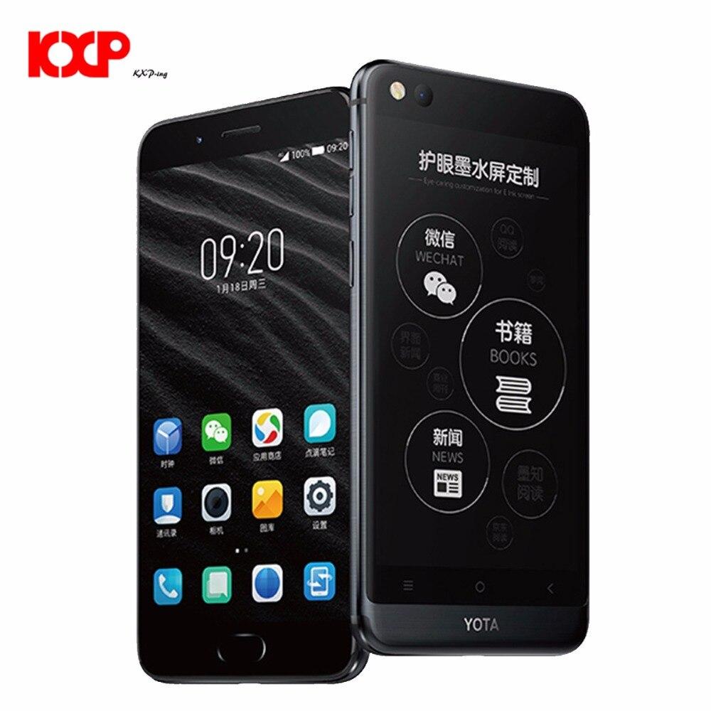Yota Yotaphone 3 4g Seulement Anglais Octa Core 4g + 64g Android7.1 Double Éboulis Smartphone 5.5 HD écran 5.2 Tactile E D'encre mobile téléphone