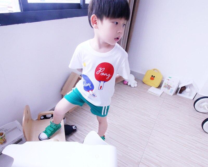 TTONCEN Europejski lato dzieci panda ping pong druku Koszulka - Ubrania dziecięce - Zdjęcie 5