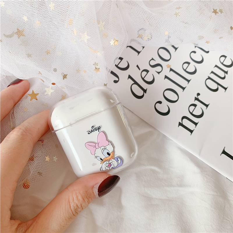 For font b Airpods b font Case Cute cartoon Transparent hard case Bluetooth wireless headset for