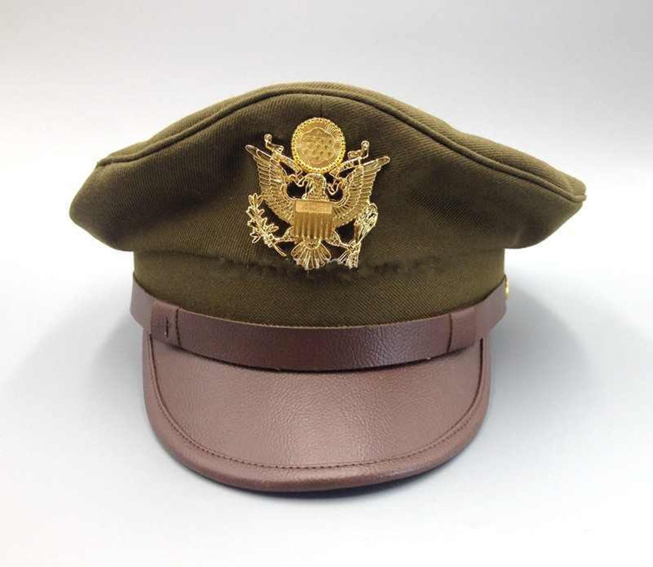 WWII US Army Air Force Jumbo Eagle Badge Officer Visor Cap military hat  SIZES-in Sports Souvenirs from Sports   Entertainment on Aliexpress.com  fc18bc6c87b