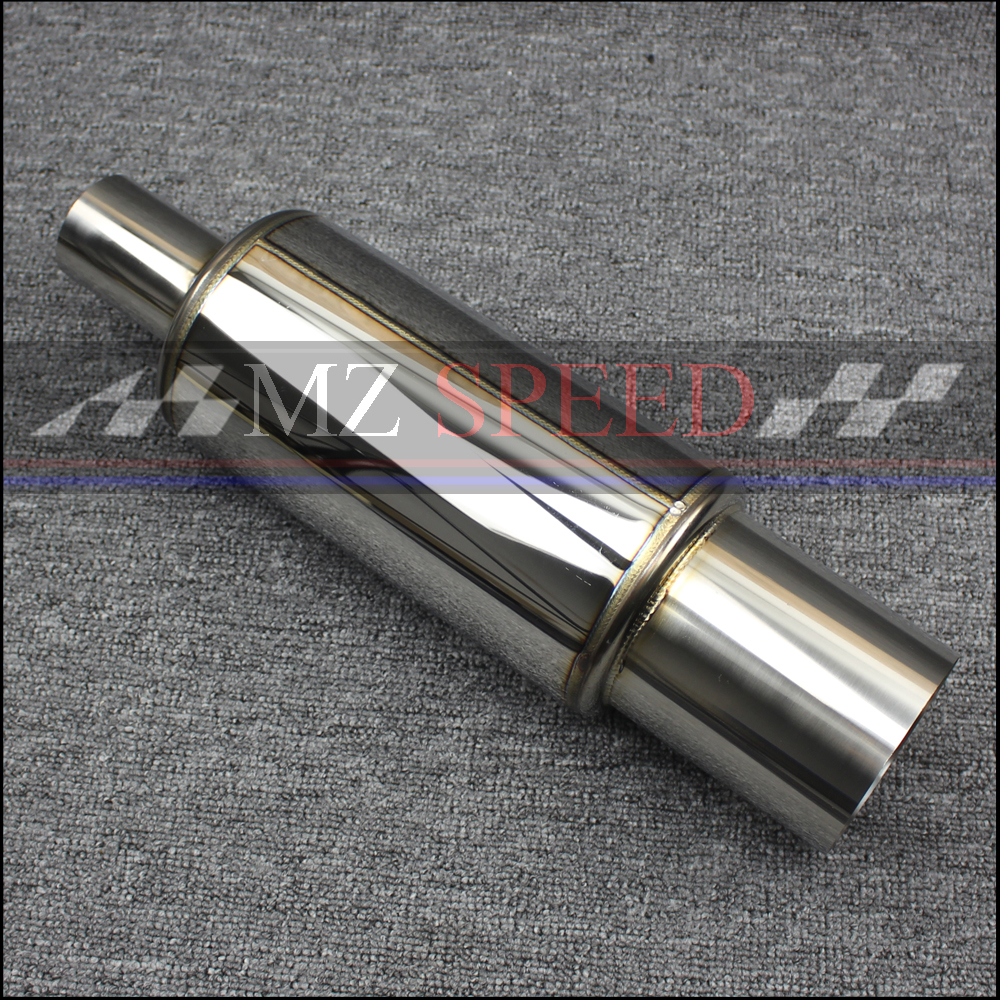 2 inches 51mm Car Exhaust System Muffler Length 410mm stainless steel Exhaust Pipe Low Sound Sound Tailpipe2 inches 51mm Car Exhaust System Muffler Length 410mm stainless steel Exhaust Pipe Low Sound Sound Tailpipe