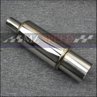 2 inches 51mm Car Exhaust System Muffler Length 410mm stainless steel Exhaust Pipe Low Sound Sound Tailpipe