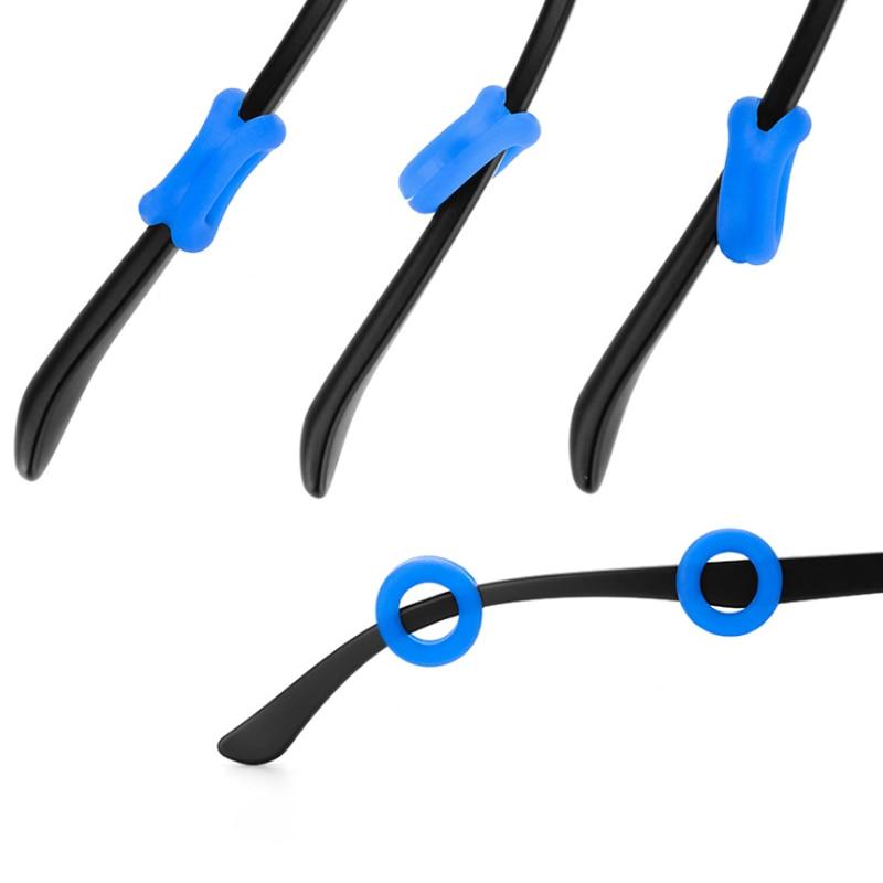 20 пар круглые силиконовые Нескользящие очки Ушные крючки очки держатель зрелище храм наконечник anit-вируса-slip ушной держатель для очков