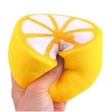 Anti stres Big Lemon Empuk squishies murah licin lambat naik besar Dekompresi Mainan Lucu Jumbo Anak Anak Dewasa Mainan