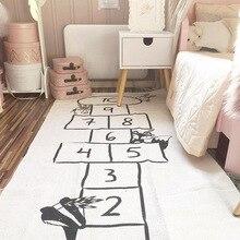 Шахматная дорожка, мир приключений, детское стеганое одеяло в скандинавском стиле, коврики для кровати, теплое зимнее одеяло для малышей, развивающий ковер INS