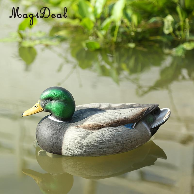 MagiDeal Lifelike Plastic Mallard Duck Decoy Texas Style Deadly Hunting Fishing Lure Drake for Garden Home Decoration Accessory high quality mallard drake ducks decoy with remote motion decoy flying duck