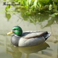 MagiDeal Lifelike Plastic Mallard Duck Decoy Texas Style Deadly Hunting Fishing Lure Drake For Garden Home