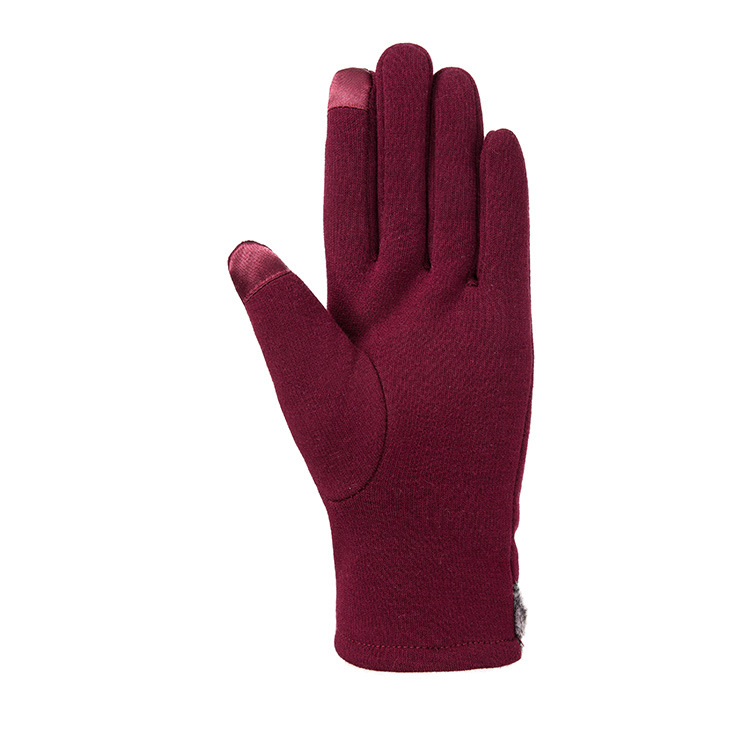 Fashion trend ladies autumn and winter gloves bow not fall down warm women 39 s touch screen gloves in Women 39 s Gloves from Apparel Accessories