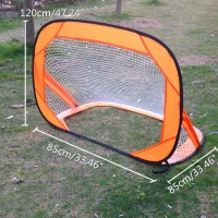 85X85X120cm Large 2PCS Mini Pop Up Soccer Goal Set Portable Foldable Football Net Kids Outdoor Team Sports Training Accessories