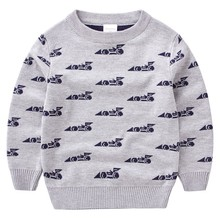 Fall new luxury fashion brand children's clothing boy sweater 100% cotton high quality child hedging sweater o-neck kids sweater