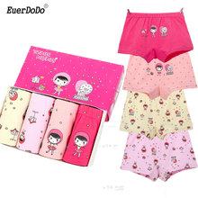 Girls Underwear Thong Panties Boxers Teenager Cotton Children for Kids 3-12T