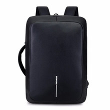 5ab34fa4825 Men Backpack Male Anti-theft USB Charging Travel Backpack Handle Side  Design Waterpoof Schoolbags For Boys Men Laptop Bag