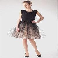 اتجاهات الموضة تول طول الركبة التنانير توتو التنانير الرائعة خط موجة نقطة الكبار مخصص النساء الكرة ثوب تنورة