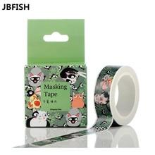 JBFISH Expression cat paper tape cartoon hand ledger journal decoration DIY Anyoutdoor walkie talkie kids3038