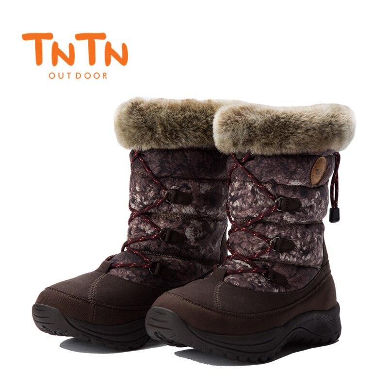 TNTN 2017 Winter Snow Boots For Women Waterproof Hiking Shoes Waterproof Hiking Boots Women Breathable Outdoor Sneakers Woman