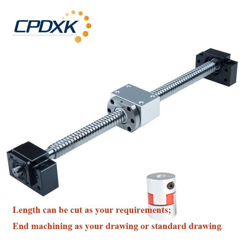 Vis à billes SFU1605 1300mm/1400 avec usinage d'extrémité + écrou à bille unique SFU1605 + boîtier d'écrou + support d'extrémité BK/BF12