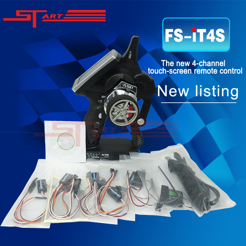 Flysky FS-IT4S Upgrade IT4 2.4Ghz AFHDS 2A Digital Remote Controller Radio Control System RC transmitter for RC Car and Boat flysky fs it4s 2 4g 4ch rc car boat radio system remote controller transmitter touch screen including ia4b receiver sensors
