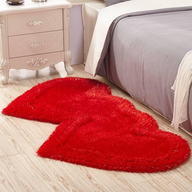 Nordique Double amour coeur tapis salon chambre décor tapis étude chevet canapé tapis maison 3D Yoga tapis Couple mariage tapis