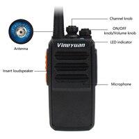 מכשיר הקשר Vineyuan מכשיר הקשר J-C5 פלוס 5W UHF 400-470MHz שני הדרך רדיו ניידת 16CH FM משדר CB רדיו Interphone (2)